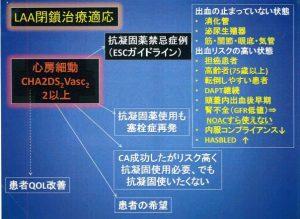 図6 左心耳閉鎖治療の適応